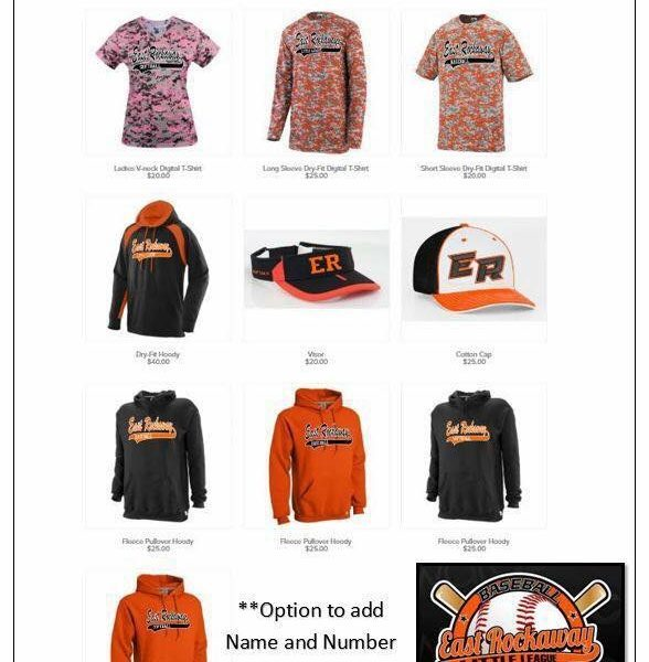 2017 East Rockaway Little League Apparel!!