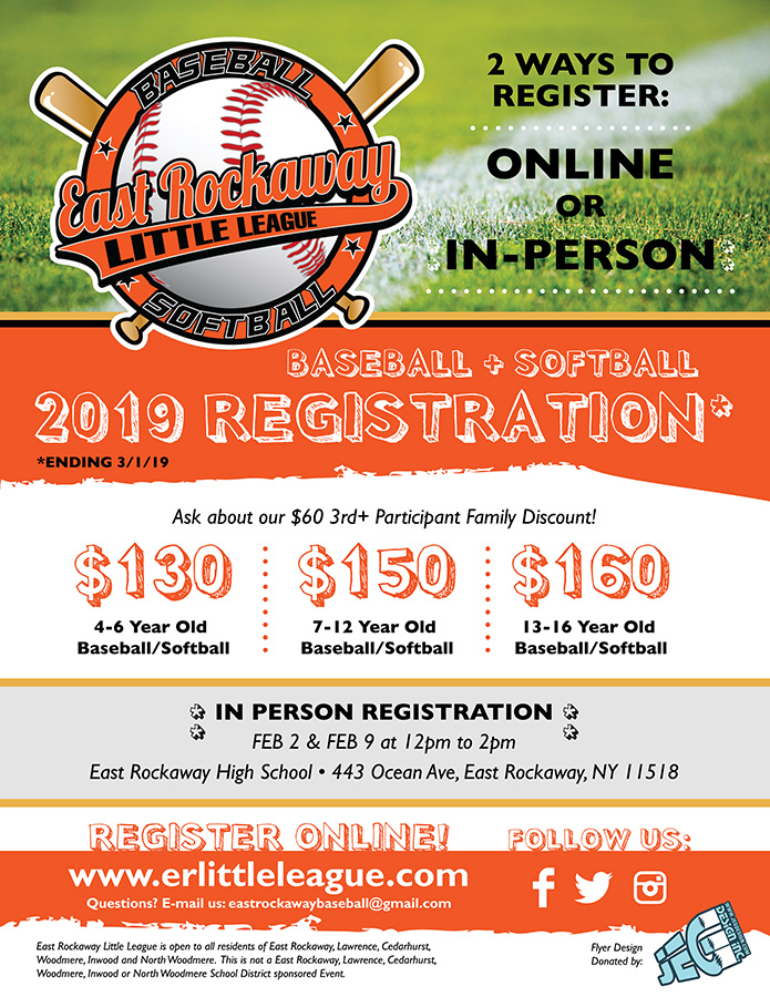 2019 Season Registration Now OPEN!!!